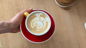 Latte Art Schwein