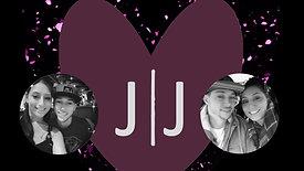 J and J Wedding custom mirror booth start screen.