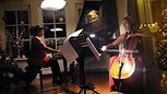 Kerst 15-12-2018, Ave Maria van Astor Piazolla, Eveline de Ronde (piano) en Irene Berenguel (cello)
