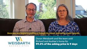 Doron Weisbarth Testimonial - Richard & Audree