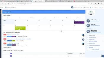Managebac Tutorial 4    The Dashboard - YouTube (360p)