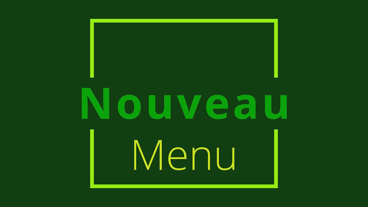 Nouveau menu