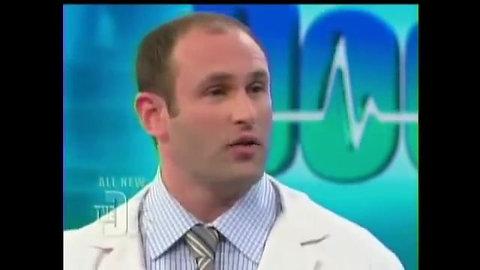 Dr Steven Sampson demonstrates PRP (Platelet-Rich Plasma) on TV