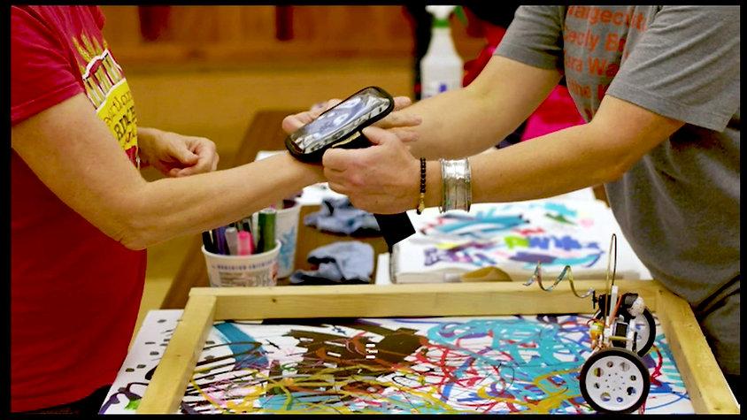Manibus Public Participatory Dance Painting Happening at Iowa State University