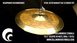 "15½"" Eclipse Hi-Hats, 966g / 1015g"