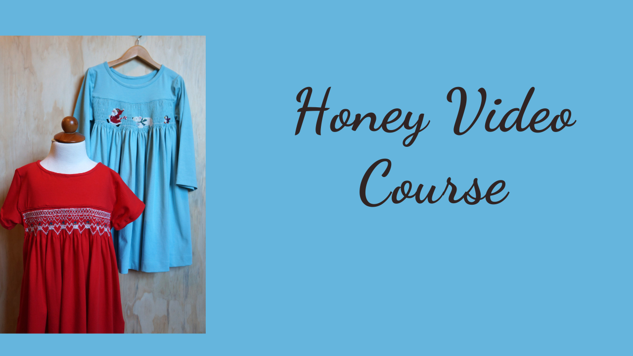Meet Honey_ A Simple Knit Dress to Smock & Sew