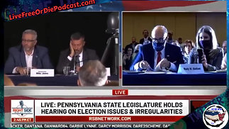 Pa hearing with Senators / Rudy / And Witness