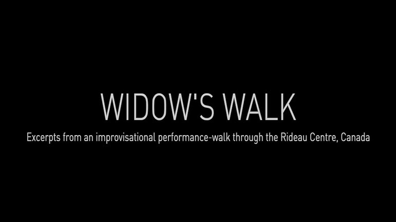 Widow's Walk | Interventionist performance