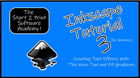 Inkscape Tutorial 3 : warping text with the warp tool