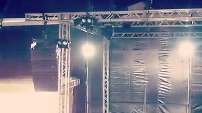 Montagem Camarote da Garoa - Som, luz Estrutura e Rider Banda e Dj