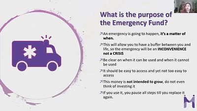 Lesson 1 Module 3 Baby Emergency Fund