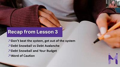 Lesson 4 - Recap