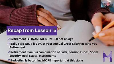 Lesson 6 - Recap