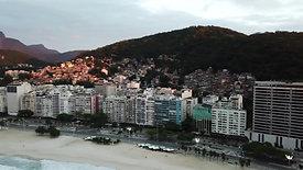 pan shot of Copacabana beach