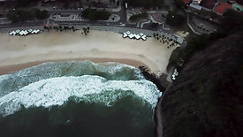 beach and hill seen from above