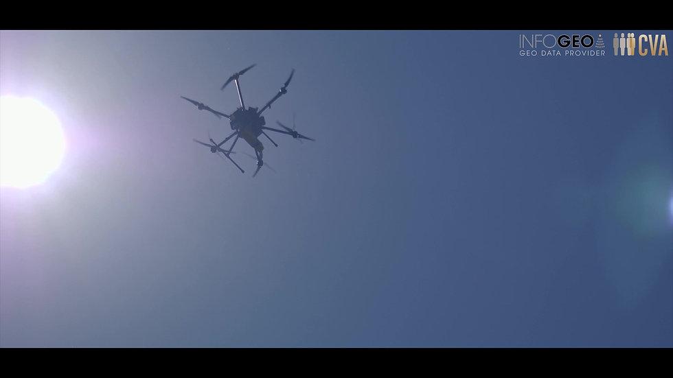 relevé lidar drone