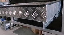 Sliding Lid truck toolbox in stainless with a sliding draw/tray