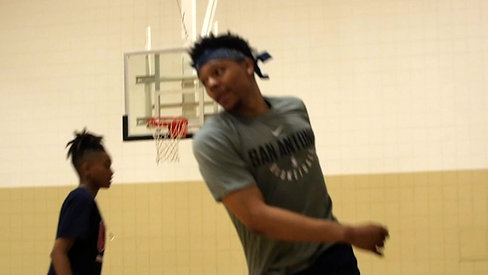Zach Lofton Training with Terez VanPelt