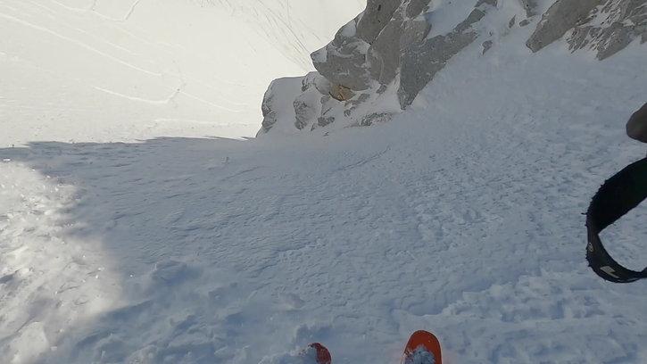 Asenteen ja olosuhteiden muutos vapaalaskussa Alpeilla