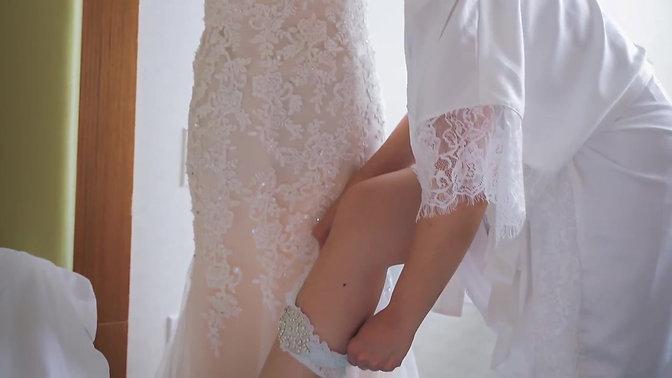 Getting ready on my wedding day!