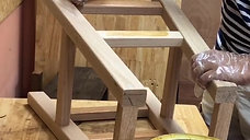 Semi High Oak Stool clip