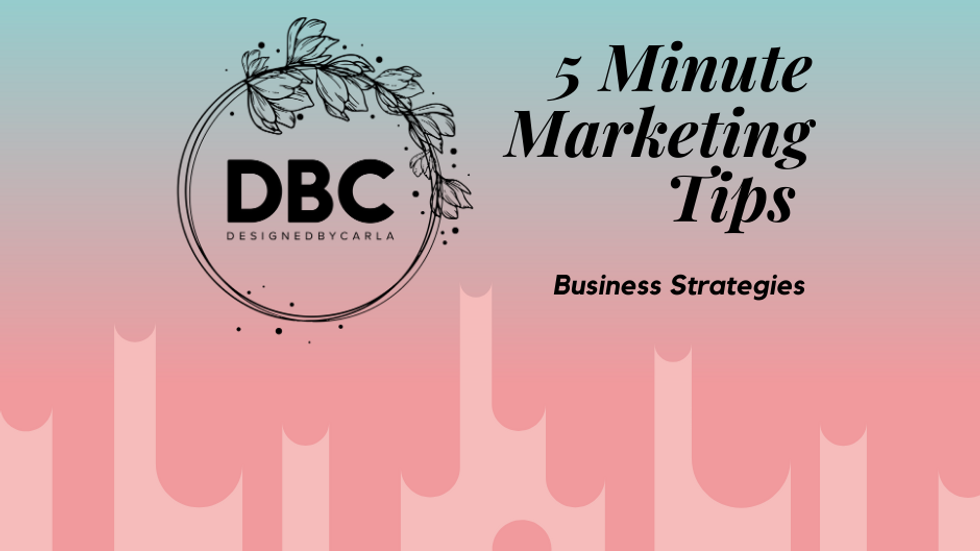 5 Minutes Marketing Tips and Strategies
