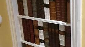 Faux hidden door, secret bookcase door
