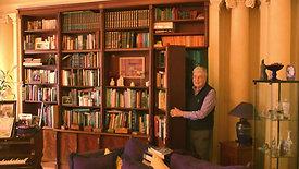 mahogany secret bookcase door