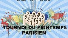 Finale du tournoi du Printemps parisien 2018