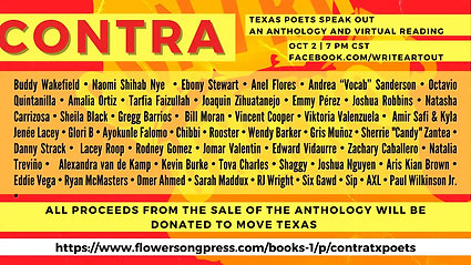 Contra: Texas Poets Speak Out - An Anthology & Fundraise for MOVE Texas
