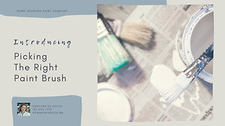 Pick The Right Paint Brush