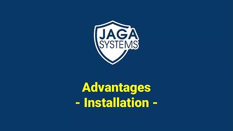 JAGA radar : installation  advantage