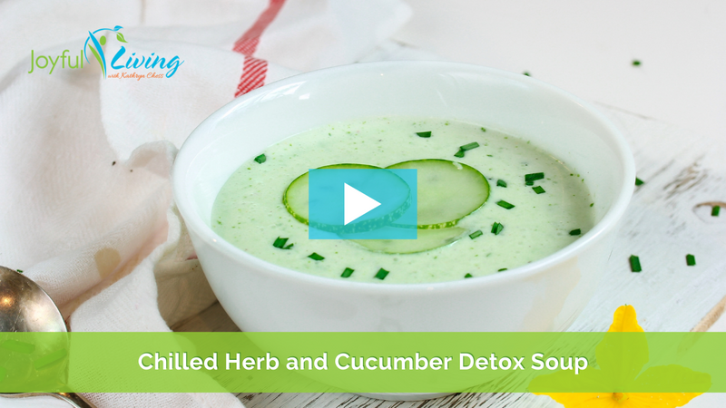 Chilled Herb and Cucumber Detox Soup