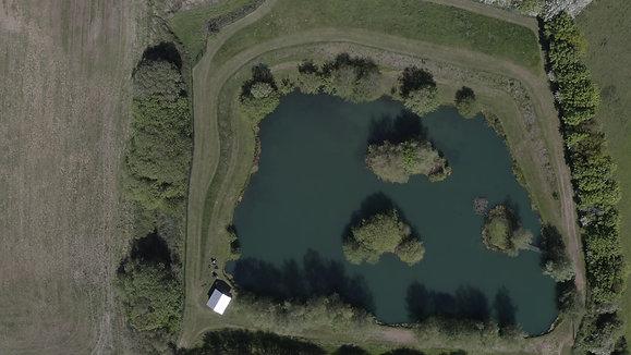 Drone footage of the predator lake