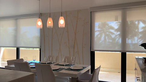 Motorized Curtains Dining/Kitchen
