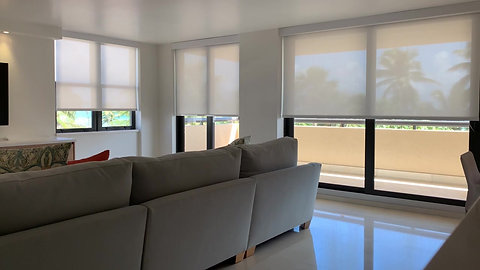 Motorized Curtains Living Room