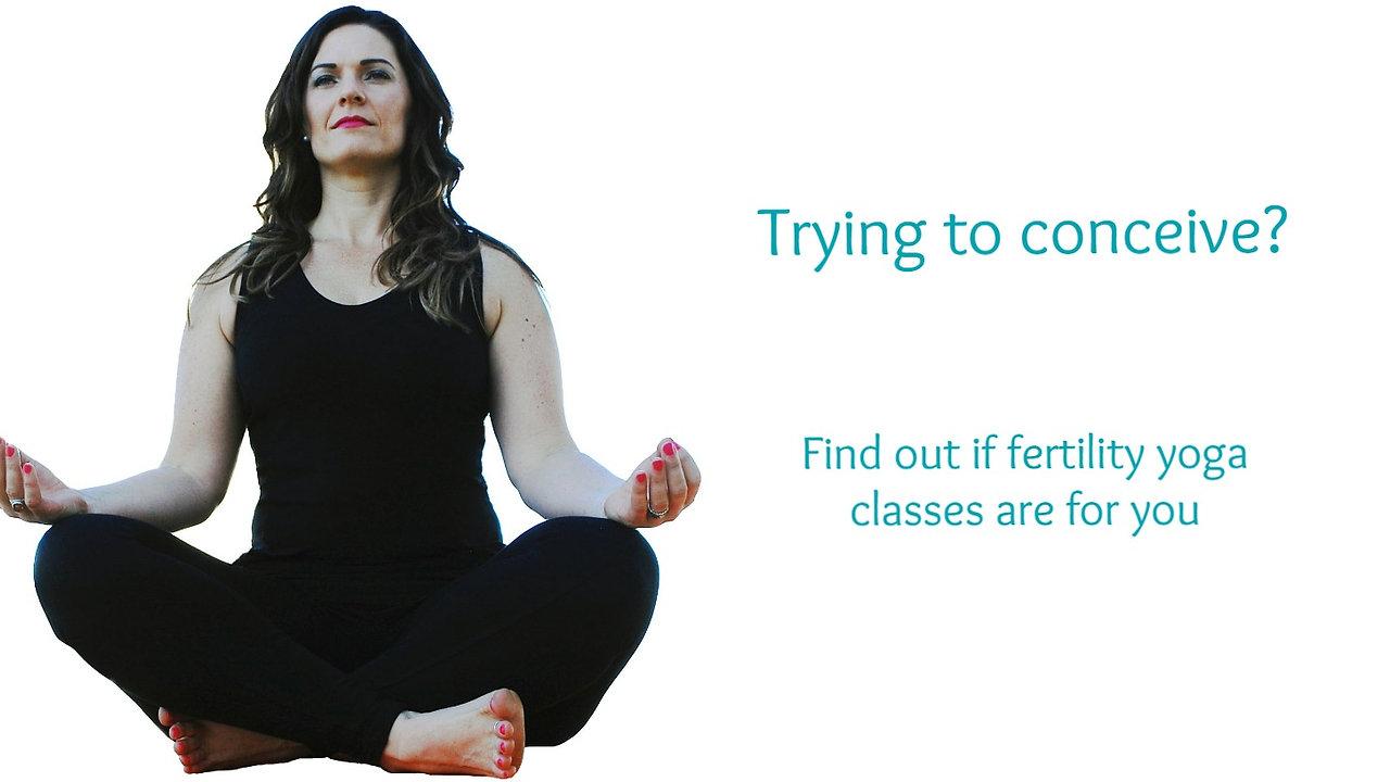 Fertility yoga information