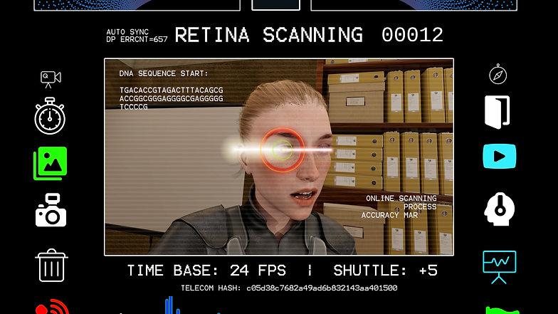BLUE ANGEL   Retina Scanning