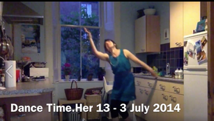 Dancing in Kitchen With Marigolds