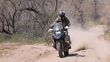 Sand! Learn to Ride and Turn an Adventure Motorcycle in Deep Sand