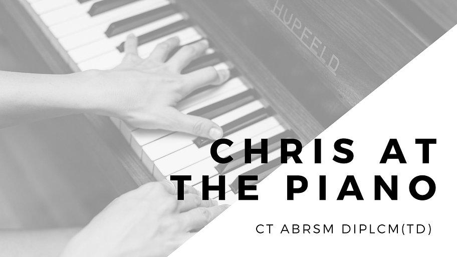 Chris at the Piano