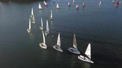 Drone view - Sunday Racing at Maidenhead Sailing Club
