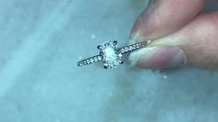 Oval Shaped Diamond Engagement & Wedding Rings
