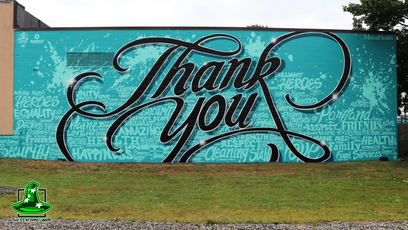 "Maine Health ""Thank you"" Mural time-lapse"