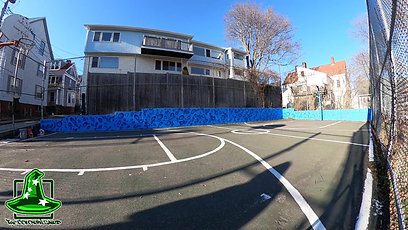 Tate Street basketball court Mural time-lapse