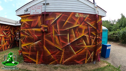 """East End bath house mural """"Colors of the Coast"""" time-lapse"""