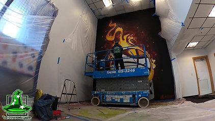 Midcoast Athletics Center mural time-lapse
