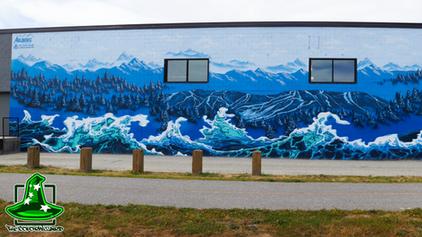 Arlberg Ski & Surf Shop mural time-lapse