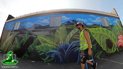 """Portland Public Health Division """"Clean Air"""" mural time-lapse"""