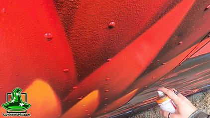 Fitzpatrick Stadium - Dragon Eggs mural time-lapse